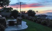 back patio sunset
