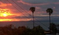 view sunset cloud sky