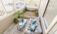 patio toward planter