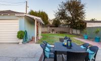 backyard patio to bbq garage